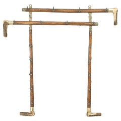 Antique Antler Whip or Stick Rack, Cane, Hunting Crop Shape with Horn Handles