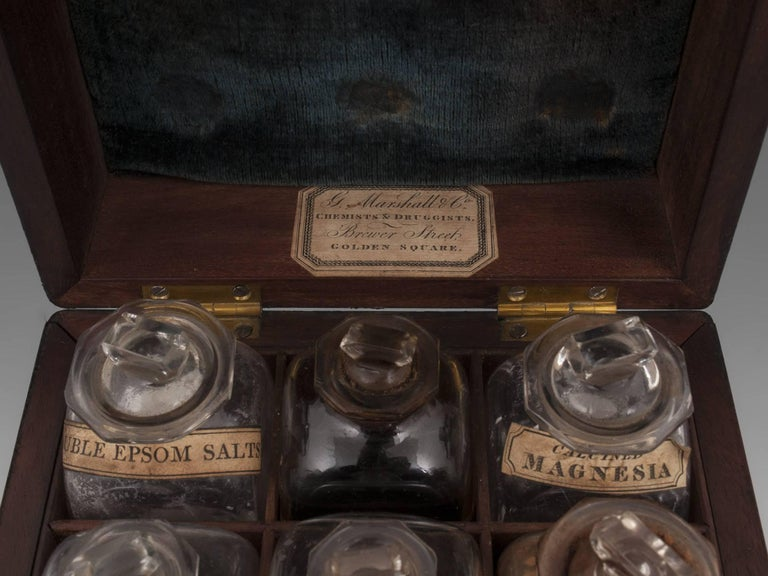 Antique Apothecary Medicine Box G. Marhsall & Co, 19th Century In Good Condition In Northampton, United Kingdom