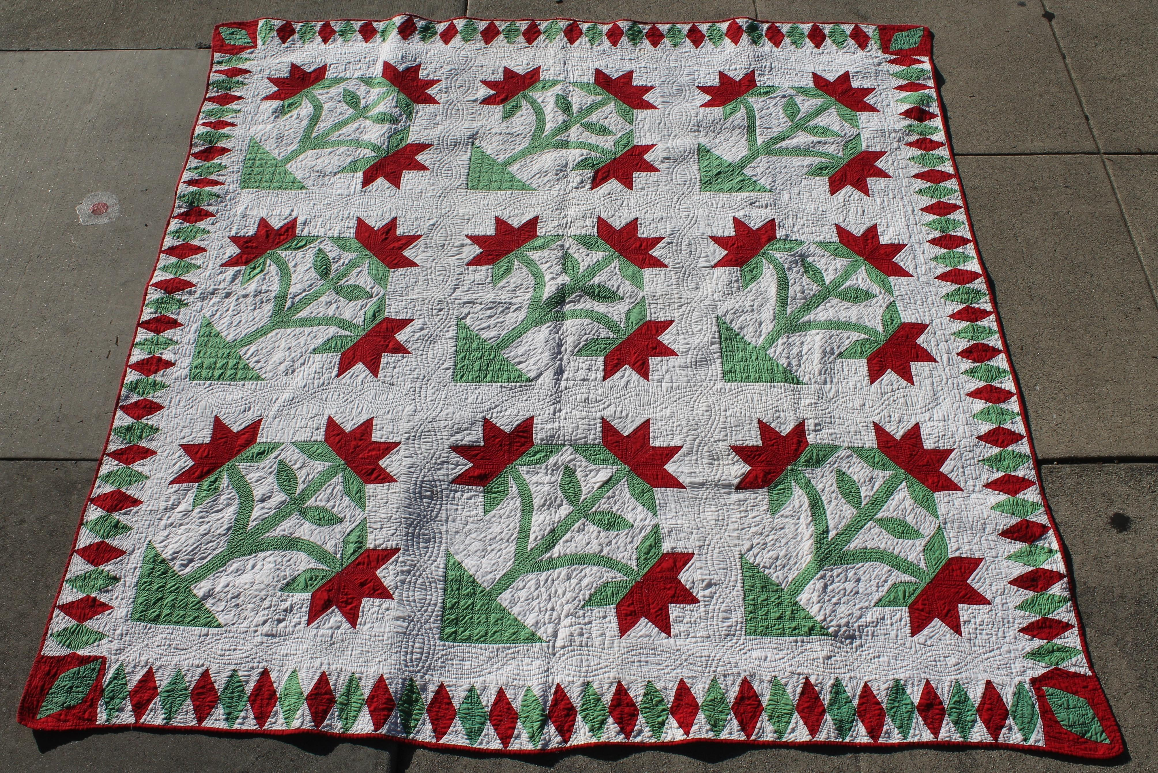 Antique applique quilt th century carolina lilly for sale at