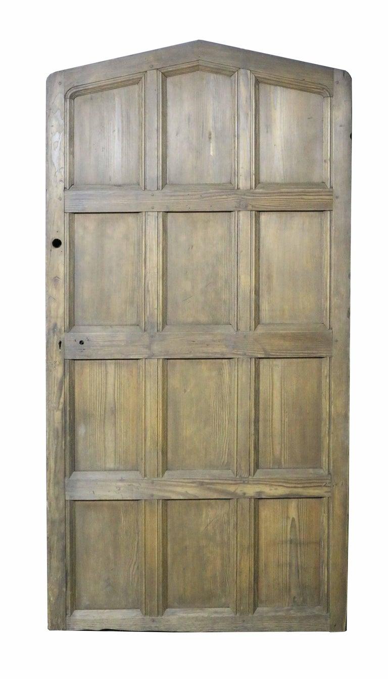 Gothic Antique Arched Hemlock / Pine Door For Sale