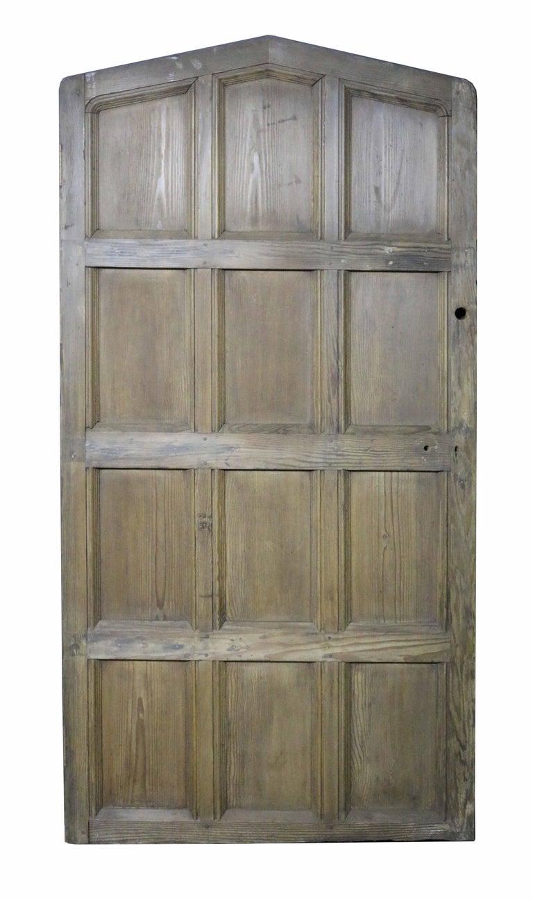 English Antique Arched Hemlock / Pine Door For Sale