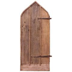 Antique Arched Oak Plank Door