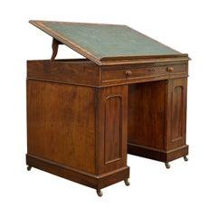 Antique Architects Desk, Adjustable, Georgian, Mahogany, Draughtsman, circa 1810