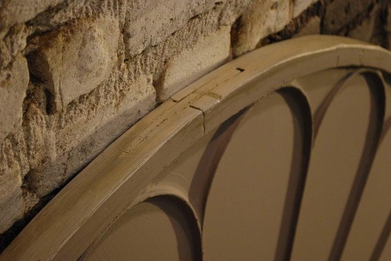 Antique Architectual Arched Top Window Fanlight Mirror Conversion For Sale 2