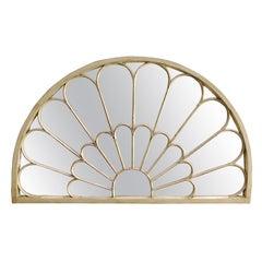 Antique Architectual Arched Top Window Fanlight Mirror Conversion