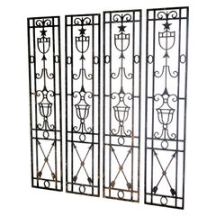 Antique Neoclassical Architectural Iron Panels