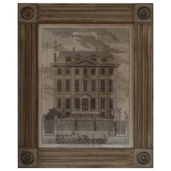 Antique Architectural Print, Newcastle House, London, 1754