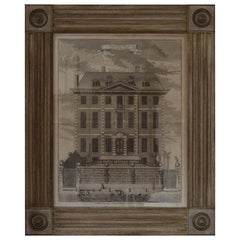 Antique Architectural Print, Newcastle House, London, 1754
