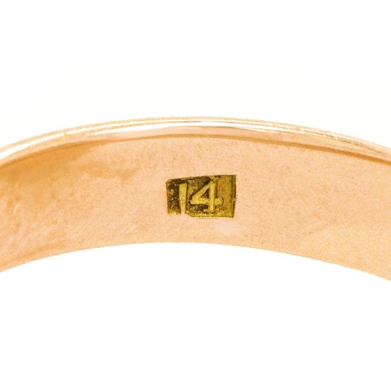 Women's or Men's Antique Architectural Revival Signet Ring For Sale