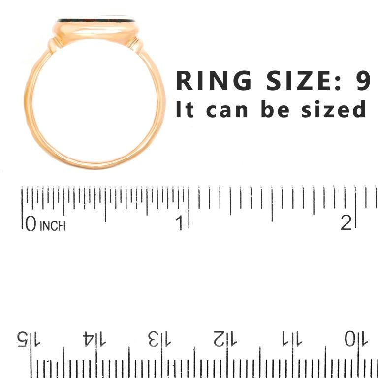 Antique Architectural Revival Signet Ring For Sale 1