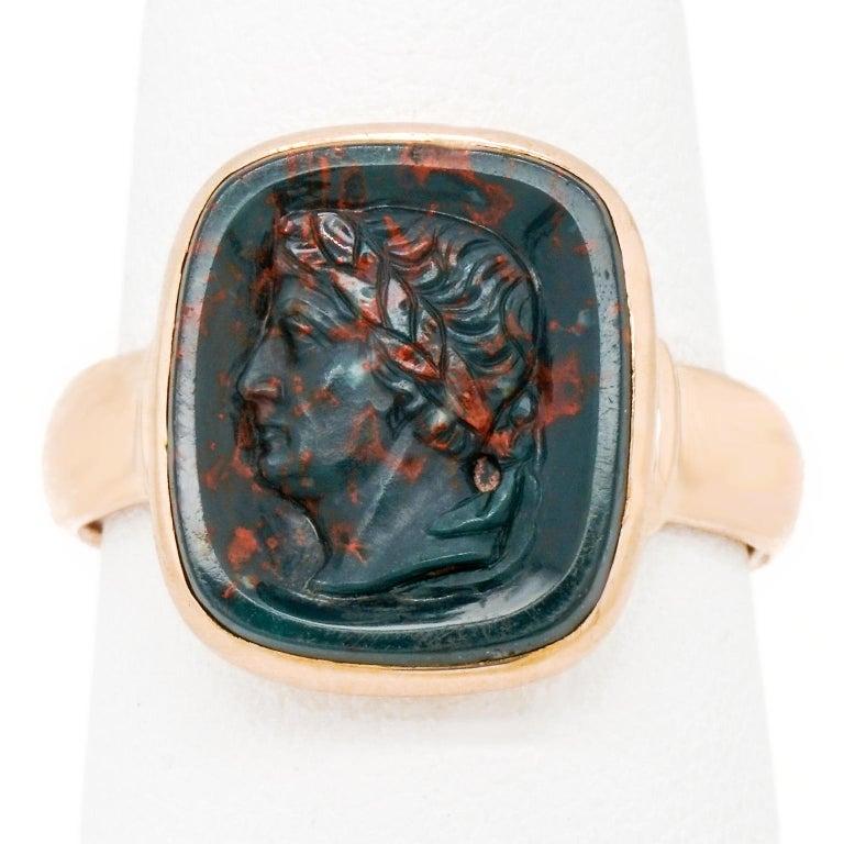 Antique Architectural Revival Signet Ring For Sale 4