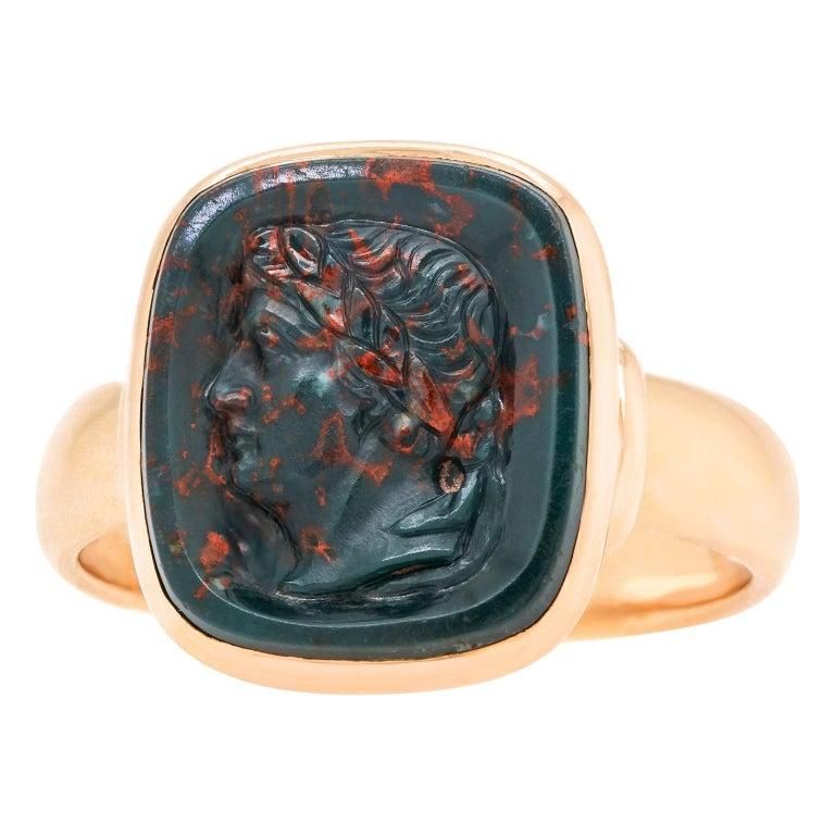 Antique Architectural Revival Signet Ring For Sale
