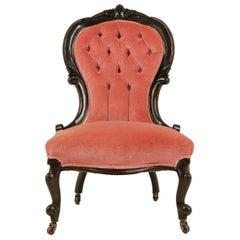 Antique ArmChair, Button Back Chair, Walnut, Victorian, Scotland, 1880