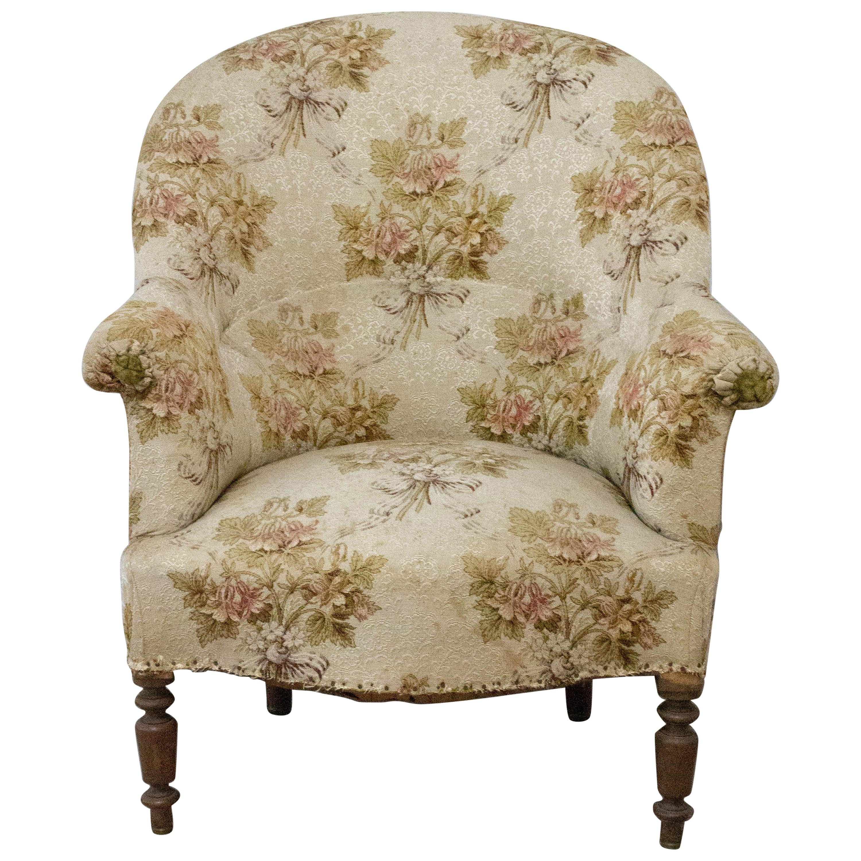 Antique Armchair Fauteuil Napoleon III French 19th Century to Recover