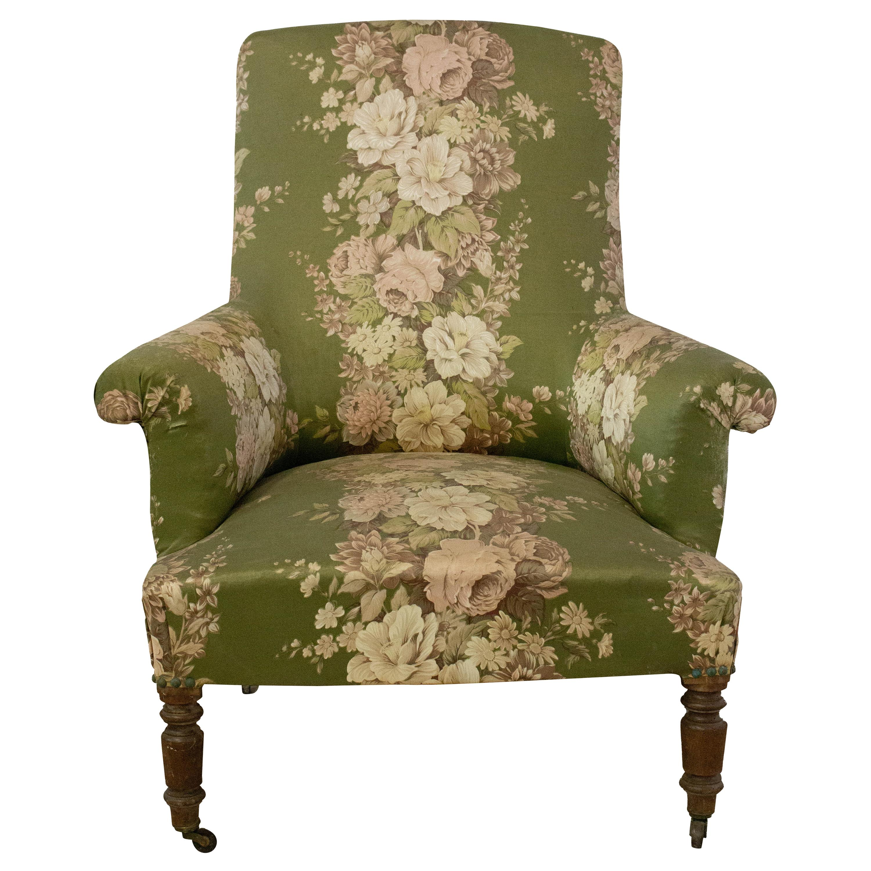 Antique Armchair French 19th Century Bergere Napoleon III to Recover