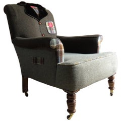 Antique Armchair the Country Tweed Armchair Bespoke Tailor Made Unique Victorian