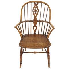 Antique Armchair, Victorian Broad Windsor Armchair, Scotland 1840, B2283