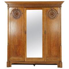 Antique Armoire, Compactum, Arts & Crafts, Three Door Armoire, 1900, B1552
