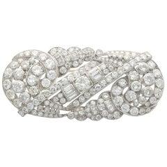 Antique Art Deco 12.64 Carat Diamond and Platinum Brooch, circa 1935