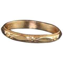 Antique Art Deco 14 Karat Yellow Gold Wedding Band