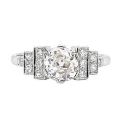 Antique Art Deco 1.75ct Old Cut Diamond Platinum Engagement Ring, Circa 1920's
