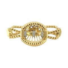 Antique Art Deco 18 Karat Gold Ladies Bracelet with Diamonds