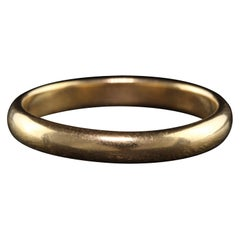 Antique Art Deco 18k Yellow Gold Wedding Band
