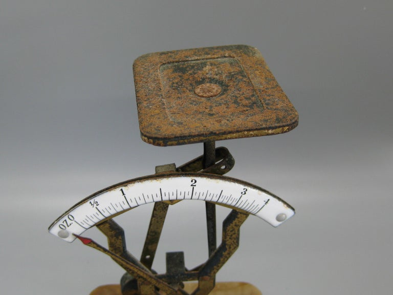 Antique Art Deco Alfred Dunhill Marble and Brass Pipe Tobacco Scale Signed 4