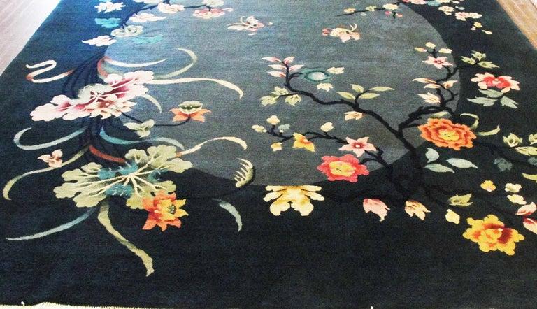 Chinese Antique Art Deco Carpet For Sale