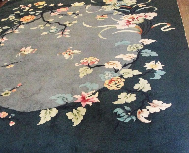 Wool Antique Art Deco Carpet For Sale