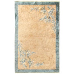 Antique Art Deco Carpet, Bamboo Tree