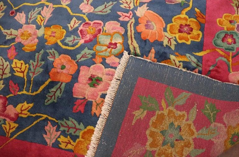 Antique Art Deco Carpet, Sea and Blue Sky For Sale 3