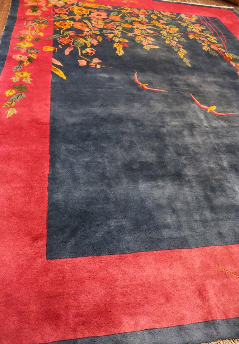 Antique Art Deco Carpet, Sea and Blue Sky For Sale 1