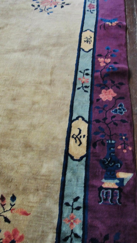 Antique Art Deco Chinese Carpet For Sale 2