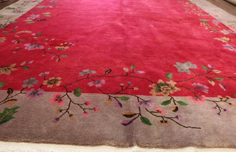 Antique Art Deco Chinese Carpet, Amazing For Sale 6