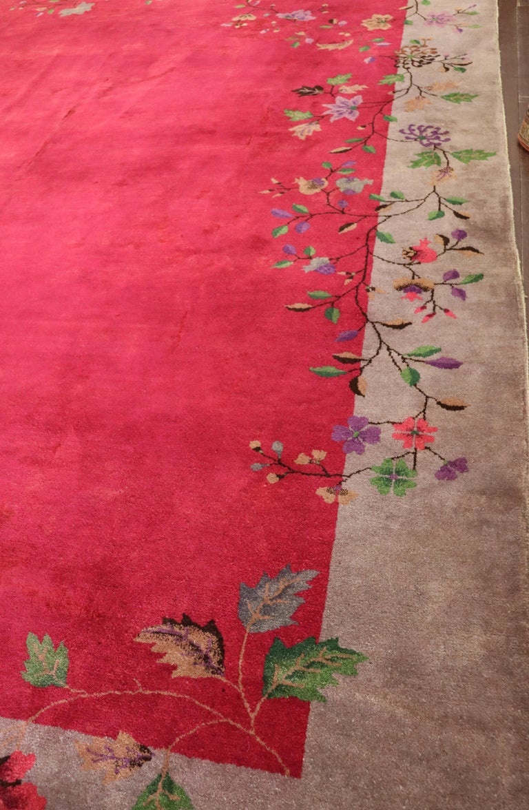 20th Century Antique Art Deco Chinese Carpet, Amazing For Sale