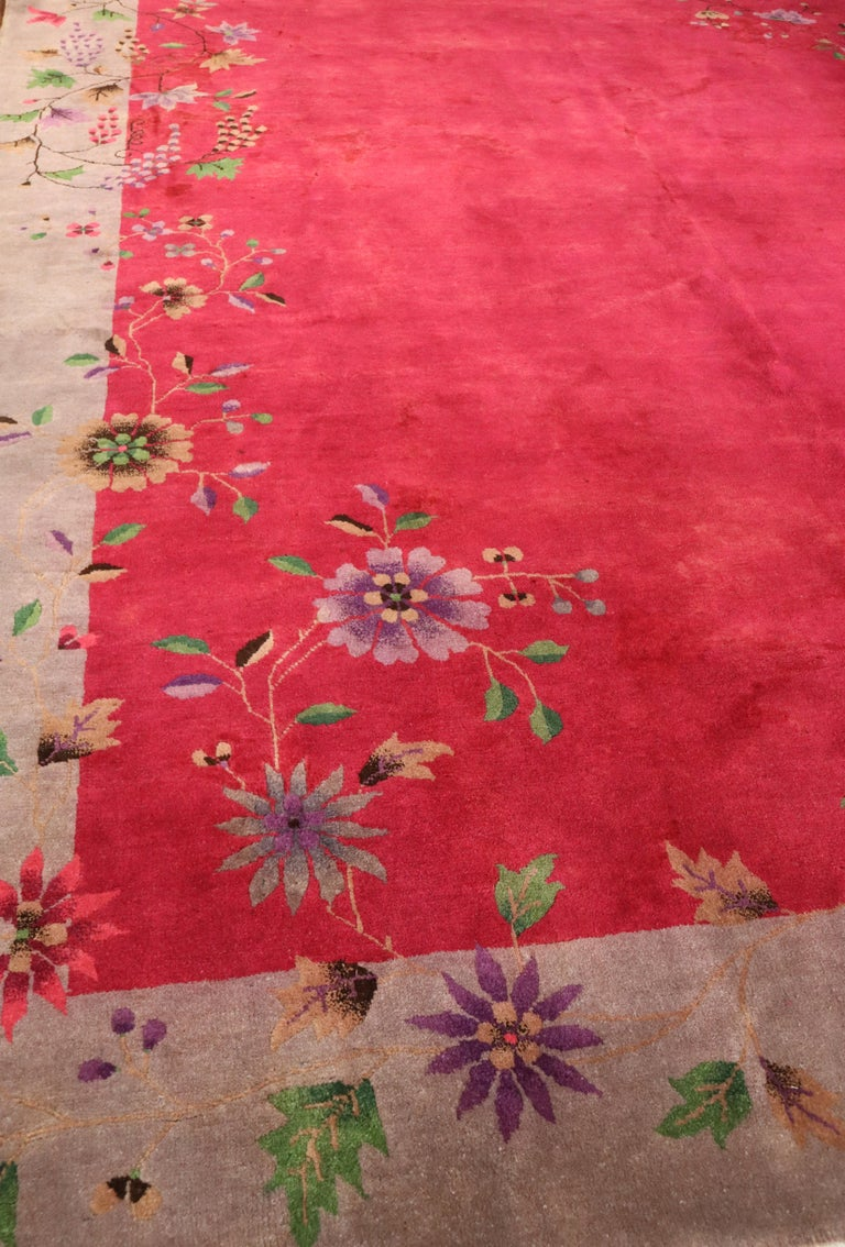 Antique Art Deco Chinese Carpet, Amazing For Sale 2