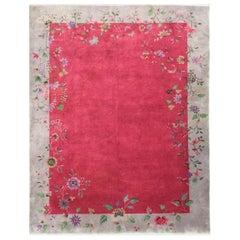 Antique Art Deco Chinese Carpet, Amazing