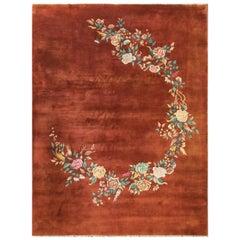 Antique Art Deco Chinese Carpet, Classic