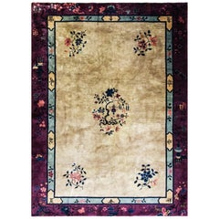 Antique Art Deco Chinese Carpet