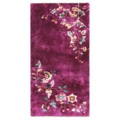 Antique Art Deco Chinese Oriental Rug, Purple