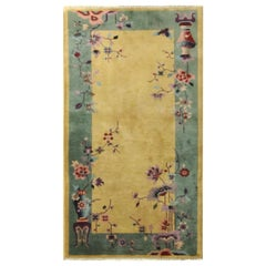 Antique Art Deco Chinese Rug, Great Colors