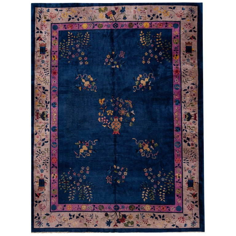 Antique Art Deco Chinese Rug For Sale At 1stdibs