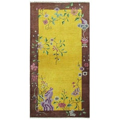 Antique Art Deco Chinese Rug, The Golden Dynasty