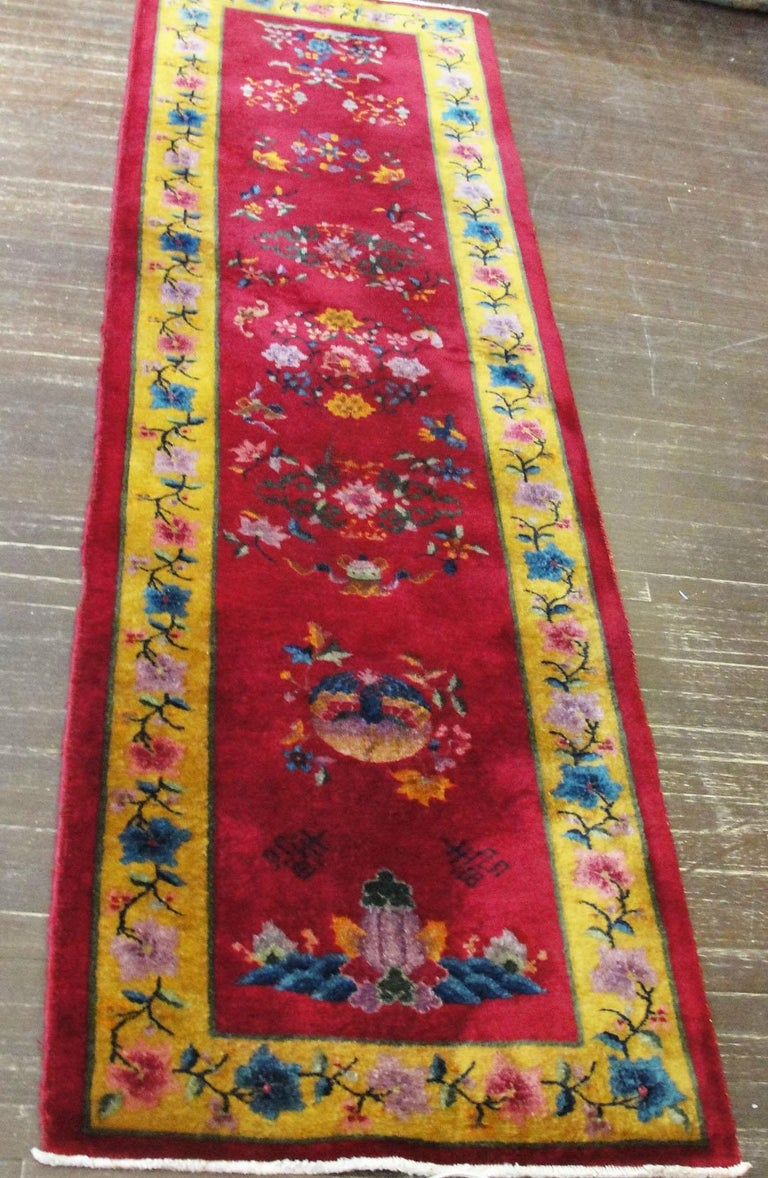 Antique Art Deco Chinese Runner For Sale 3