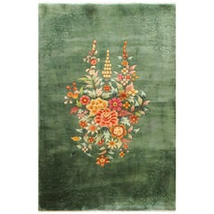 Antique Art Deco Chinese Wedding Rug