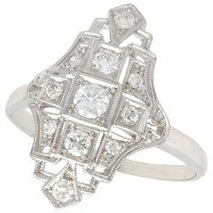 Antique Art Deco Diamond and Platinum Cocktail Ring
