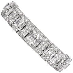 Antique Art Deco Diamond Platinum Bracelet