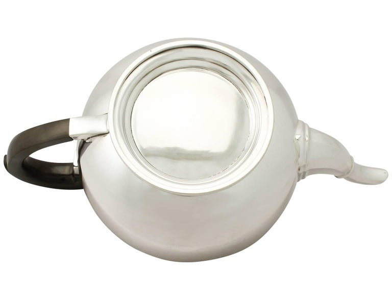 Antique Art Deco English Sterling Silver Teapot by William Neale & Son Ltd For Sale 2