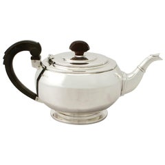 Antique Art Deco English Sterling Silver Teapot